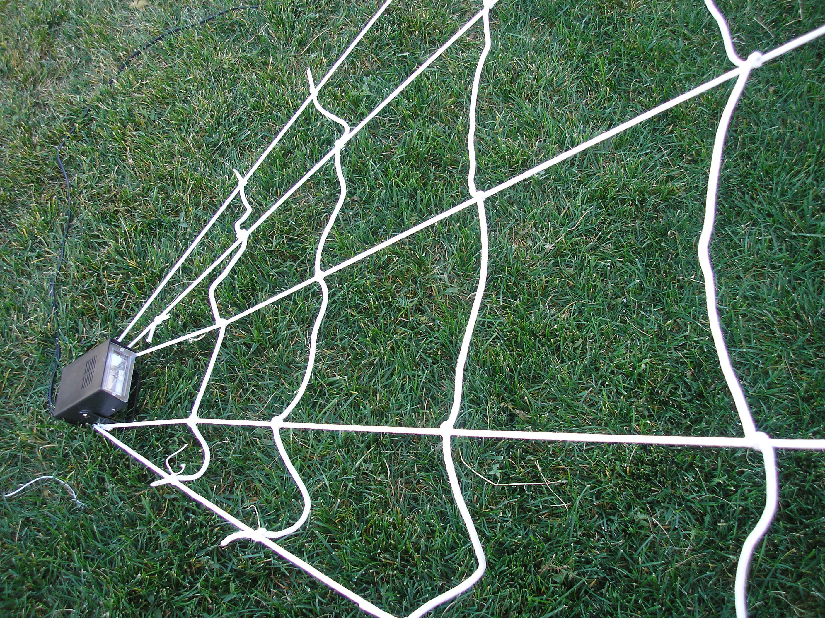 How To Make A Giant Spider Web Decorating On A Budget Halloween My Savvy Home